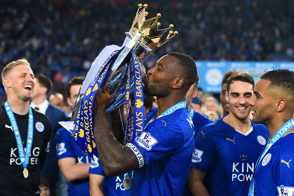 Wes Morgan con Leicester City