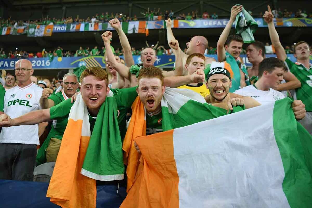 La afición de Irlanda