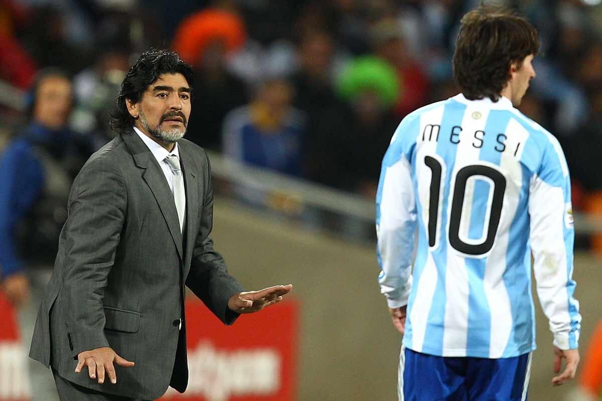 Maradona y Messi