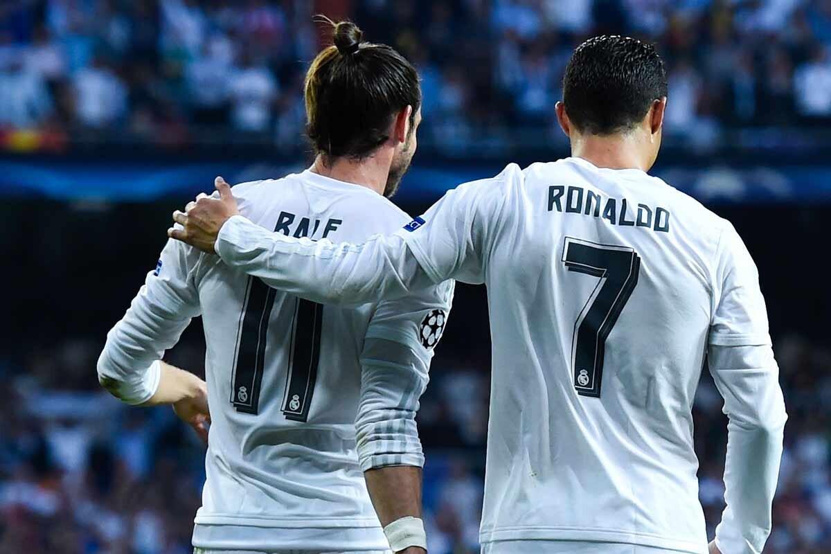 Bale y Cristiano, con el Real Madrid
