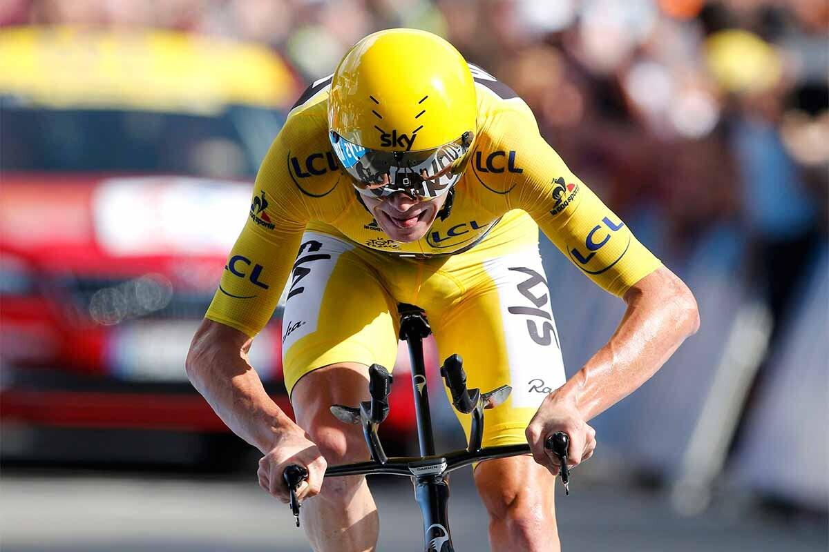Chris Froome, durante la 18ª etapa del Tour