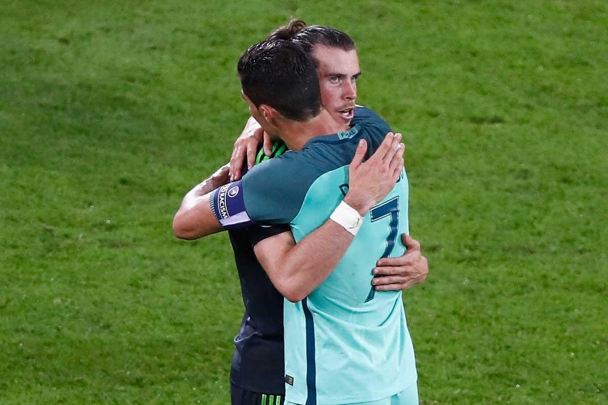 Cristiano Ronaldo y Gareth Bale, en la Euro 2016