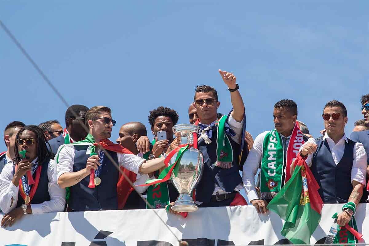 Portugal celebra la Eurocopa en las calles de Lisboa