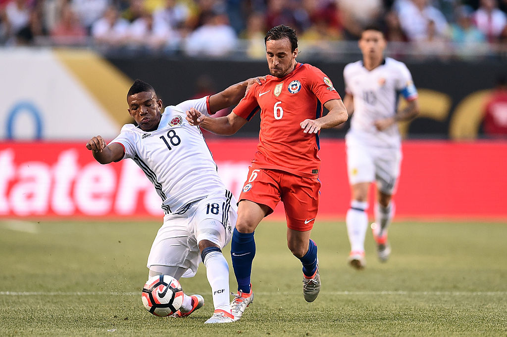 Frank Fabra con colombia en la Copa América Centenario