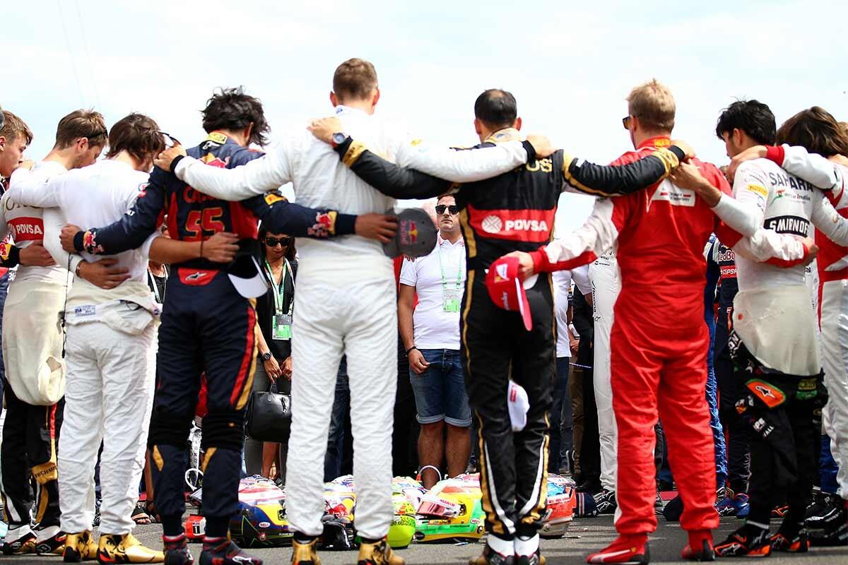 Homenaje a Jules Bianchi en el GP de Hungría