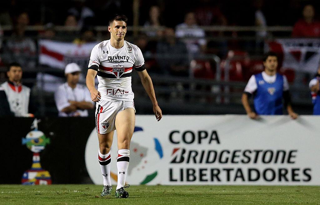 Calleri con el Sao Paulo en Copa Libertadores