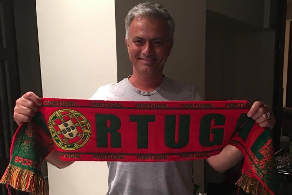 Jose Mourinho felicita a Portugal