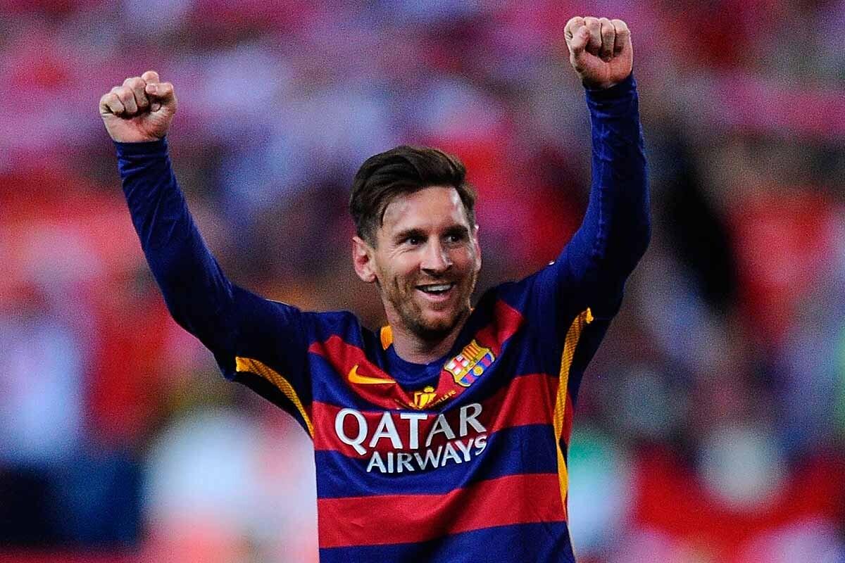 Leo Messi celebra un triunfo con el Barcelona