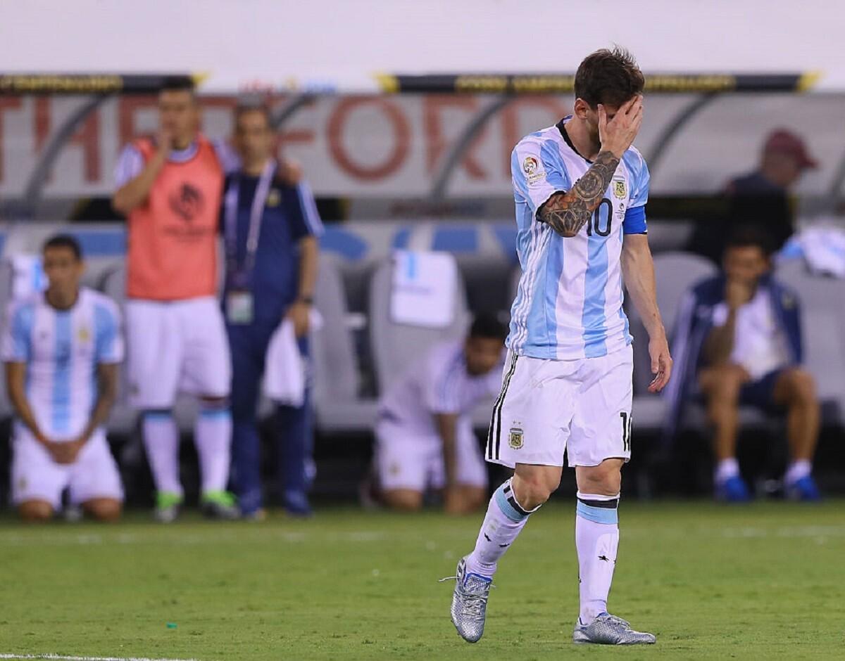 Messi con Argentina derrotado