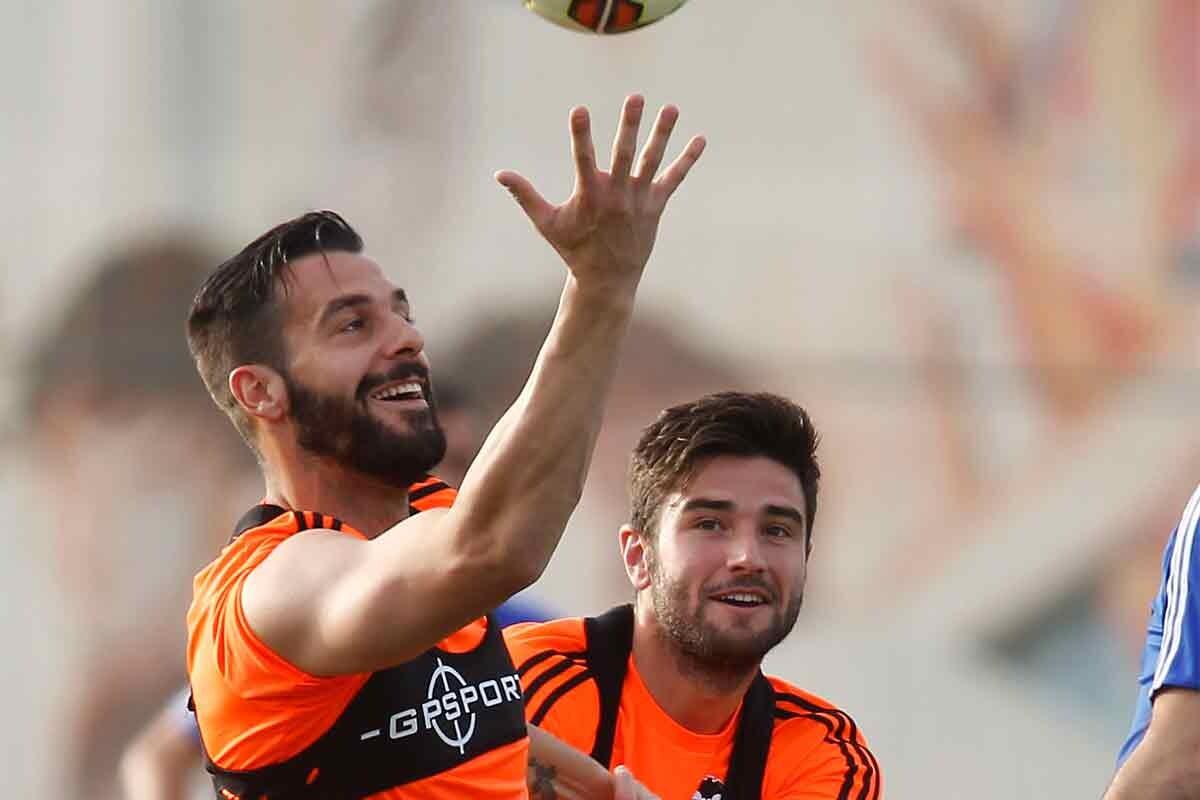 Álvaro Negredo y Antonio Barragán