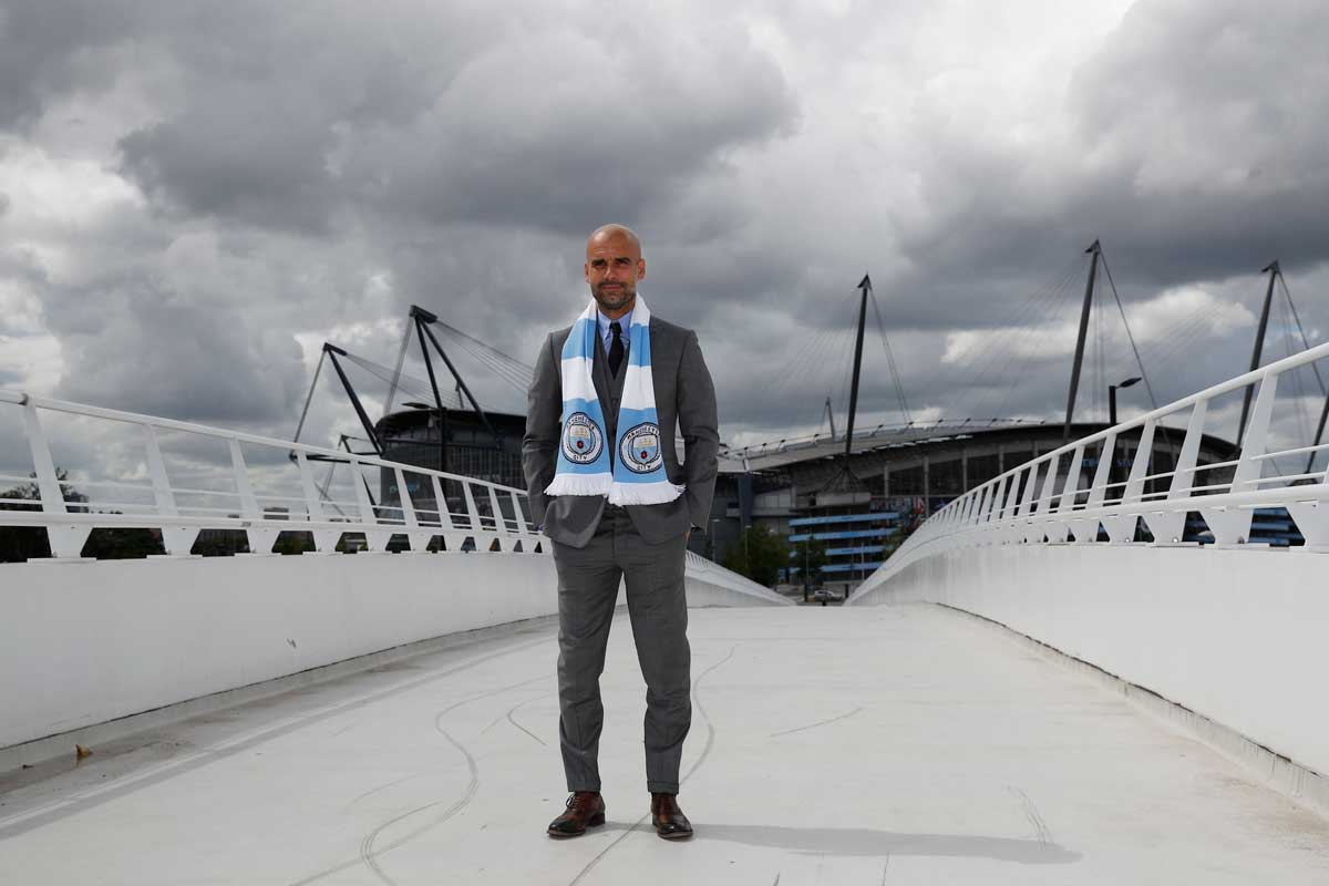 Pep Guardiola. técnico del Manchester City