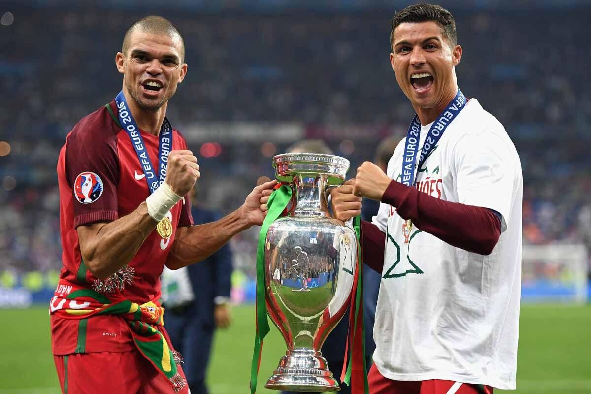 Pepe y Cristiano Ronaldo