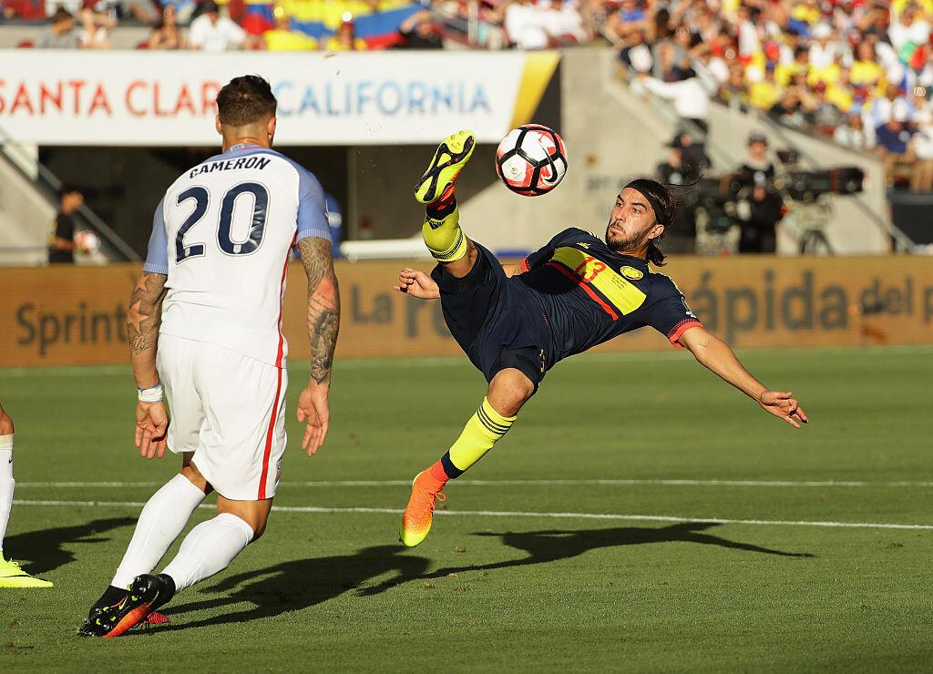 Sebastián Pérez con Colombia en la Copa América Centenario