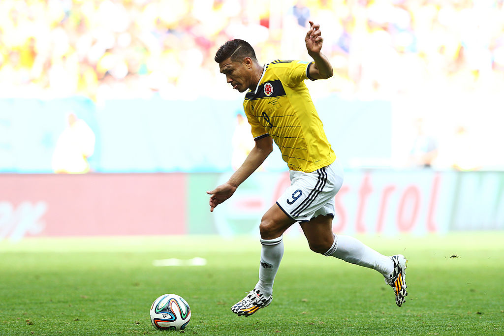 Teófilo con Colombia en el Mundial de Brasil 2014