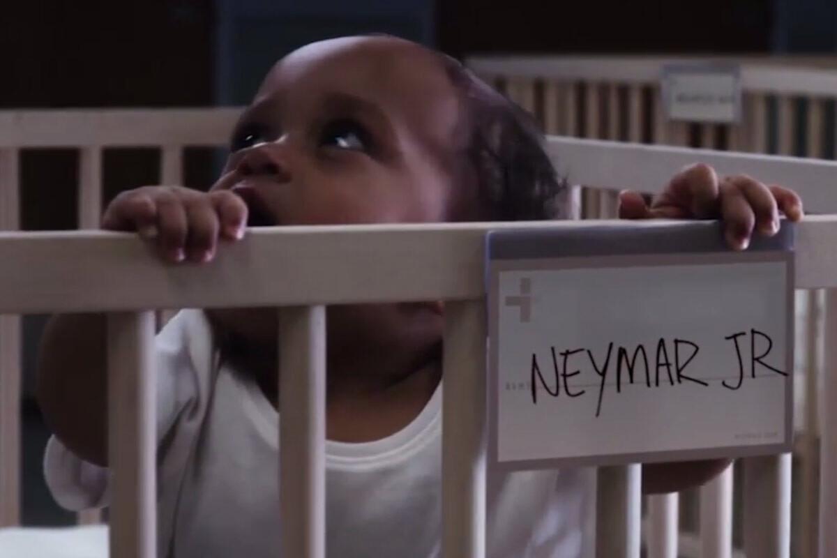 Neymar de bebé