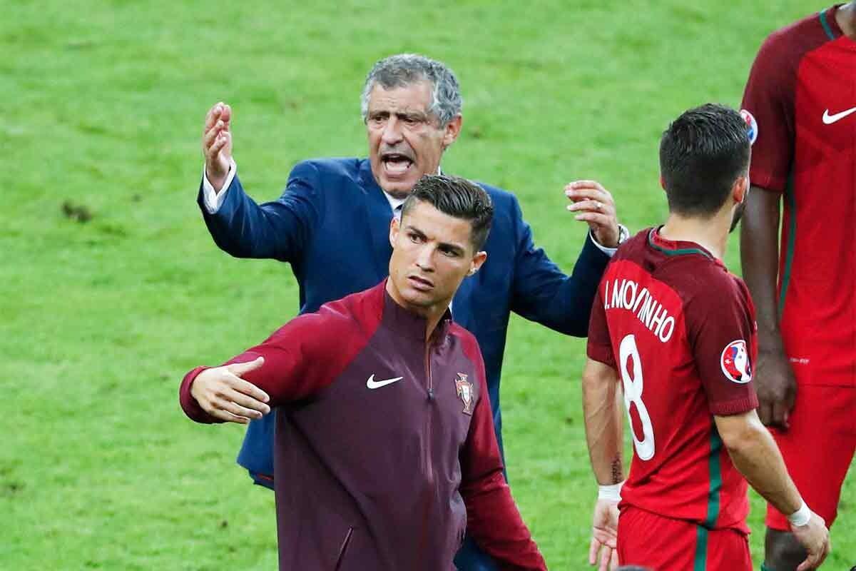 Cristiano Ronaldo, durante la final de la Eurocopa