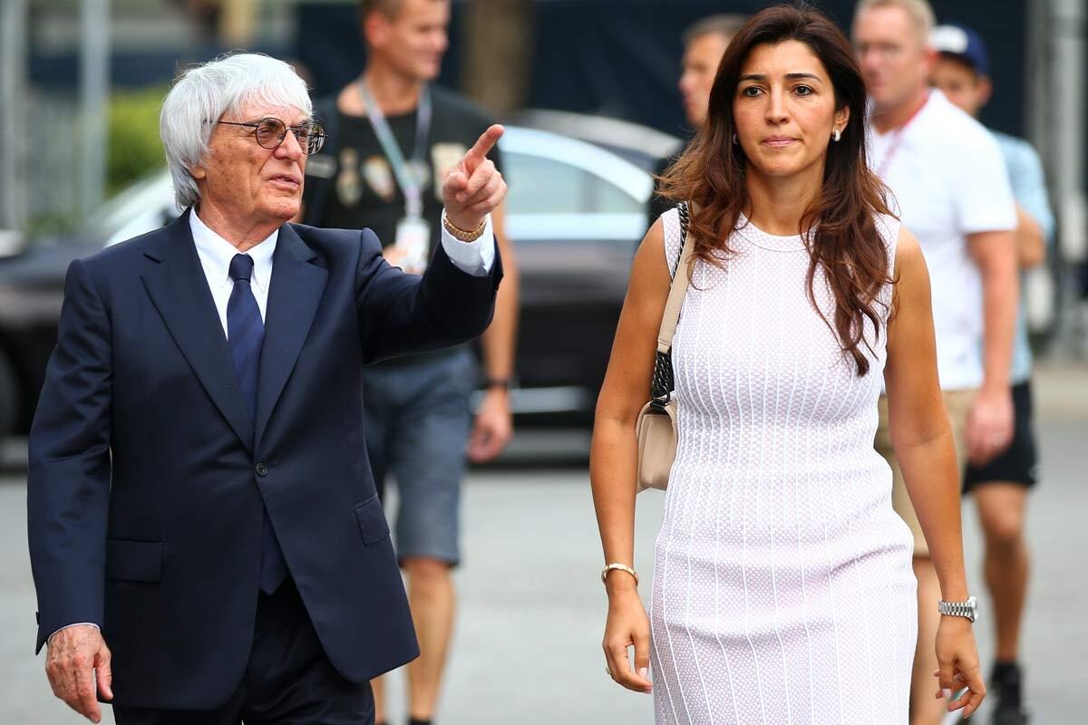 Ecclestone y Fabiana Flosi