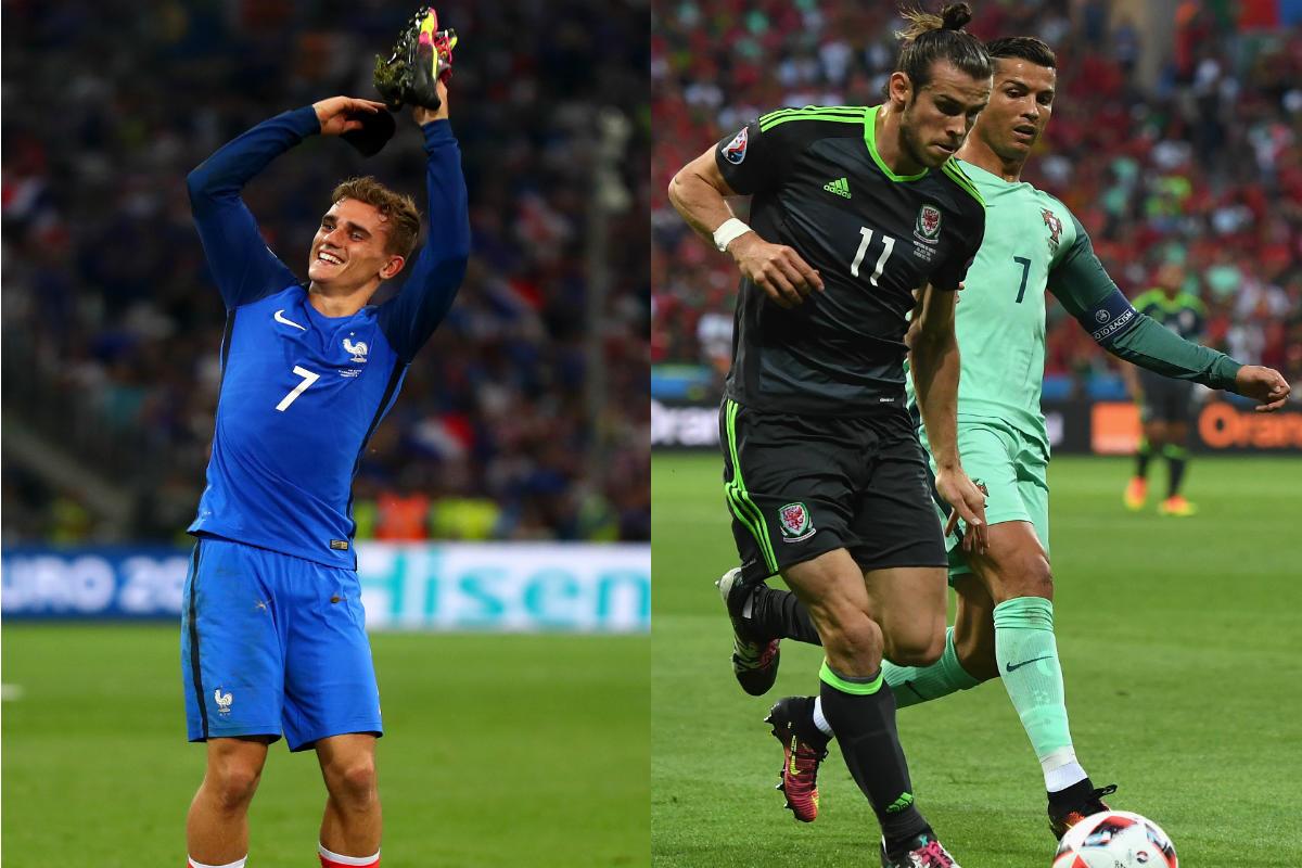Griezmann, Bale y Cristiano