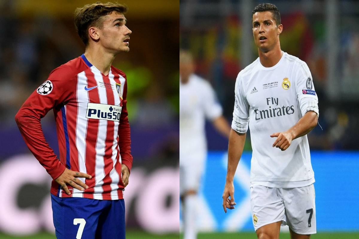 Griezmann y Cristiano Ronaldo