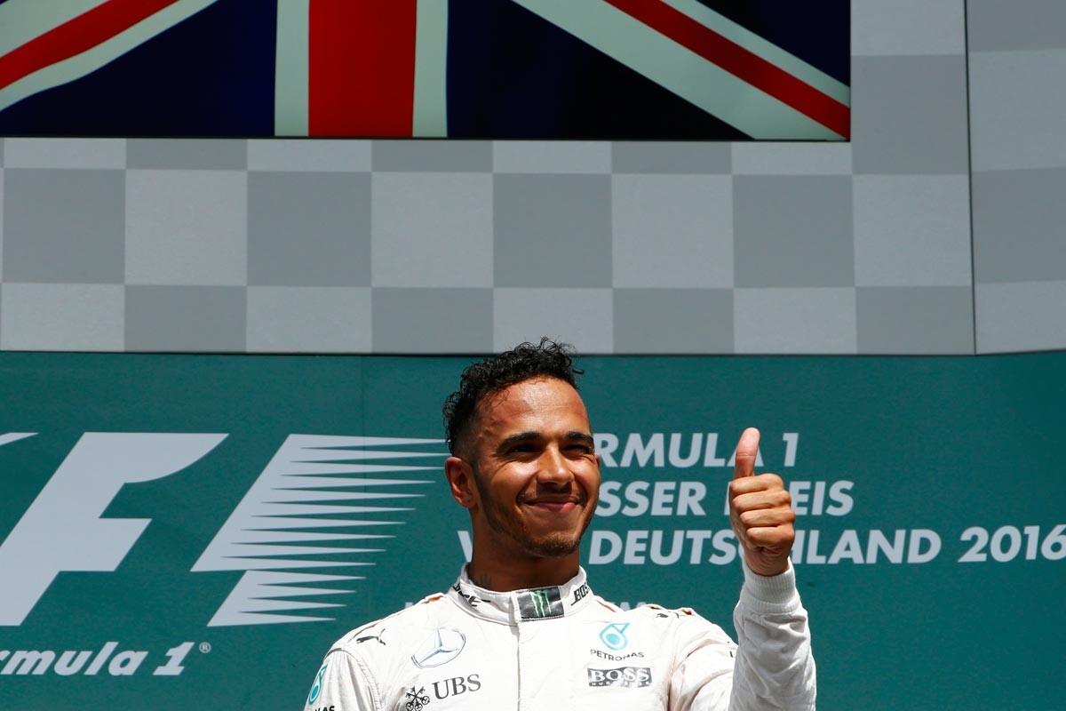 Hamilton ganó en Alemania
