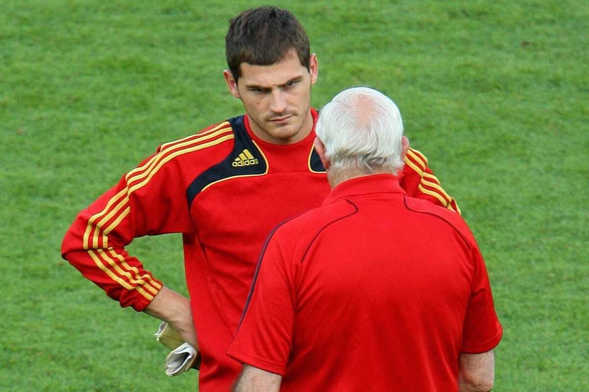 Iker Casillas y Luis Aragonés