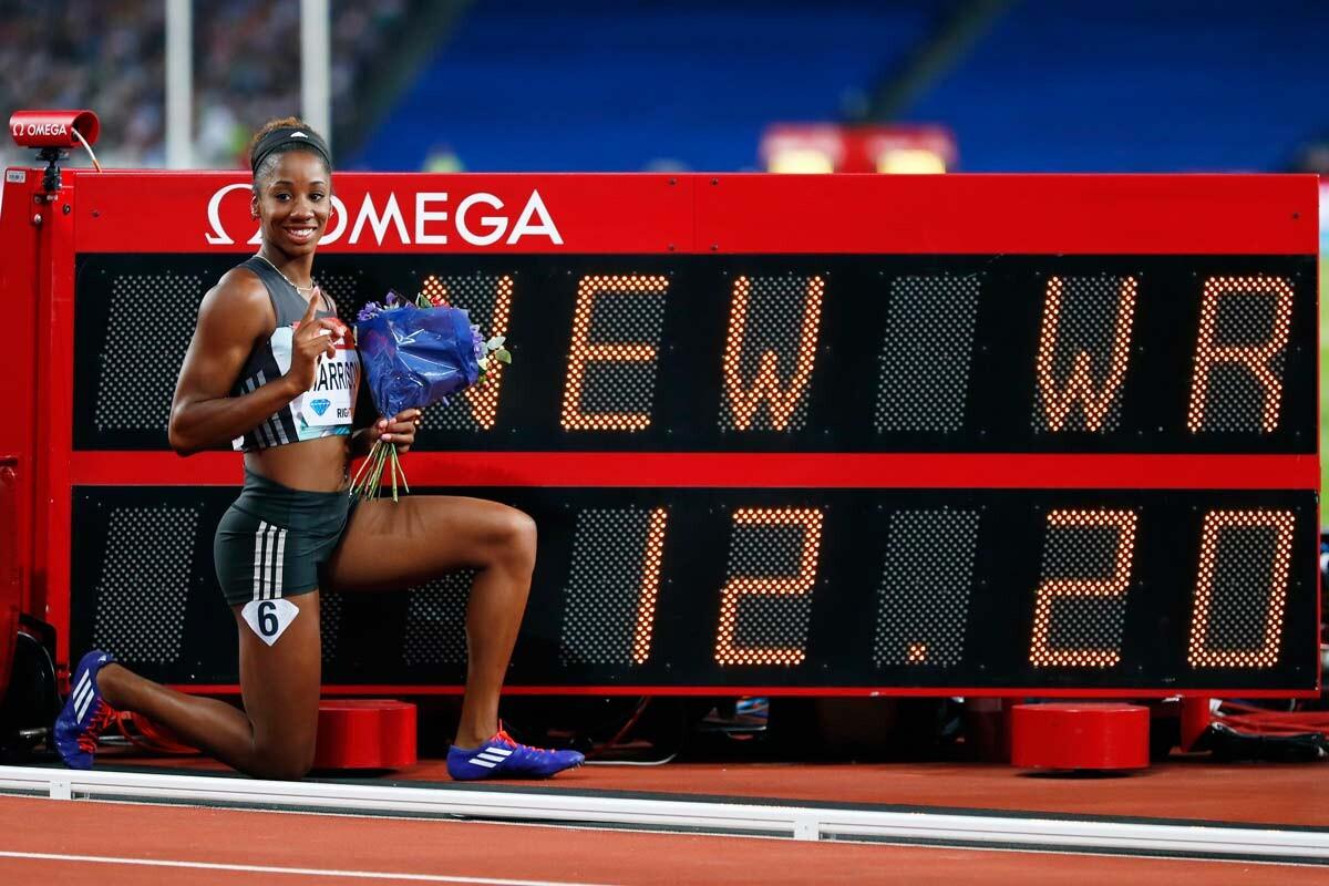 Kendra Harrison bate el récord de los 100m vallas
