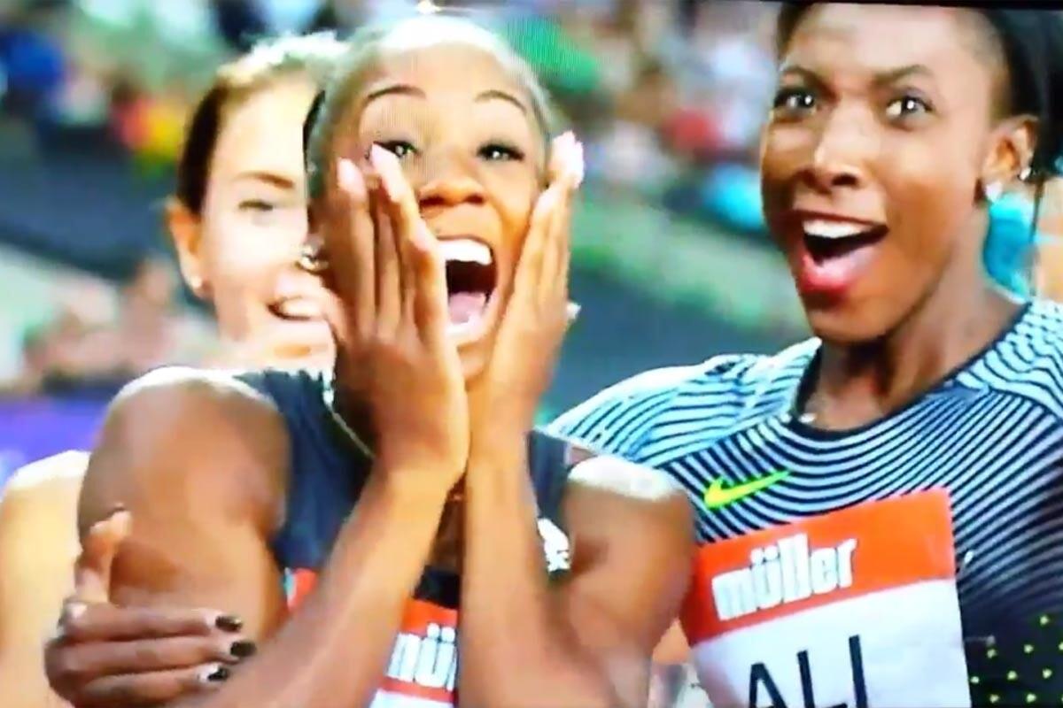 Kendra Harrison, récord del mundo de 100m vallas