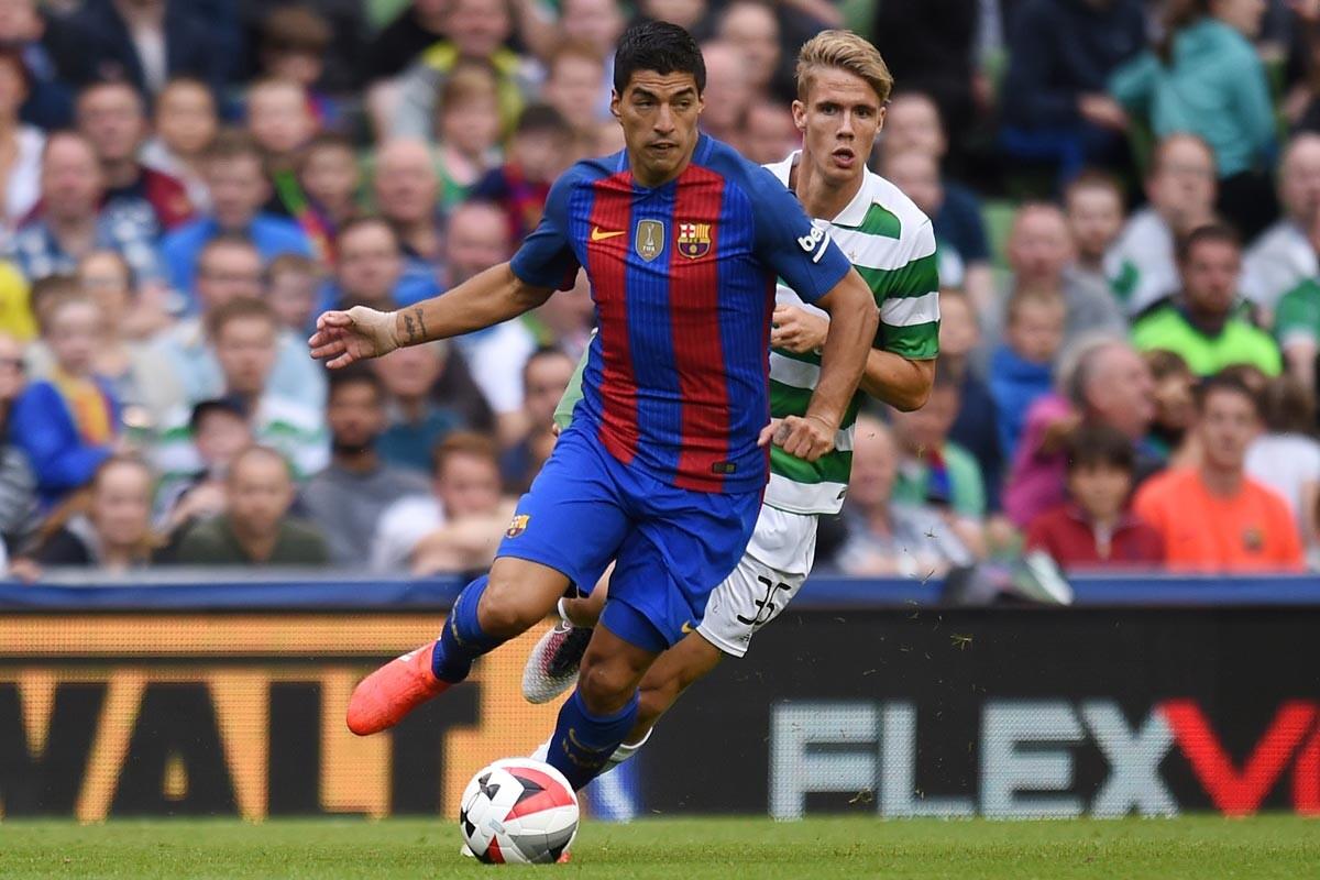 Luis Suárez ante el Celtic