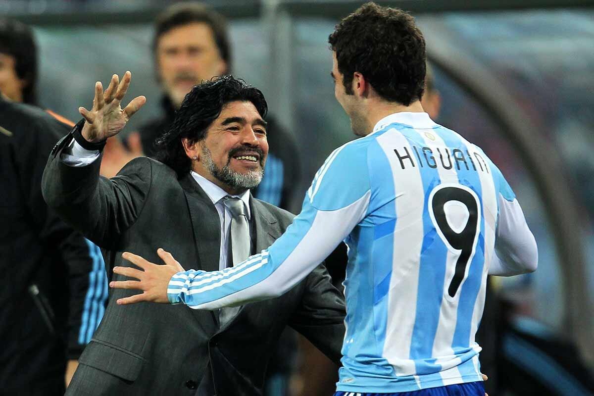 Maradona e Higuaín