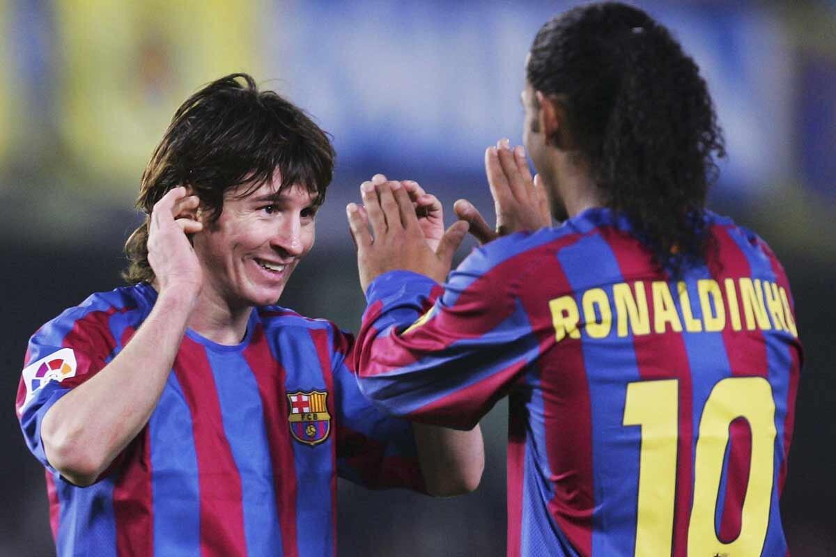 Ronaldinho y Messi