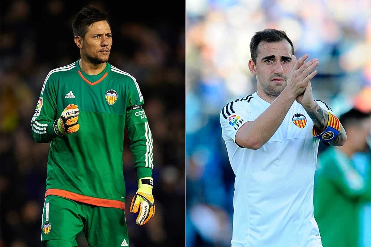 Diego Alves y Paco Alcácer