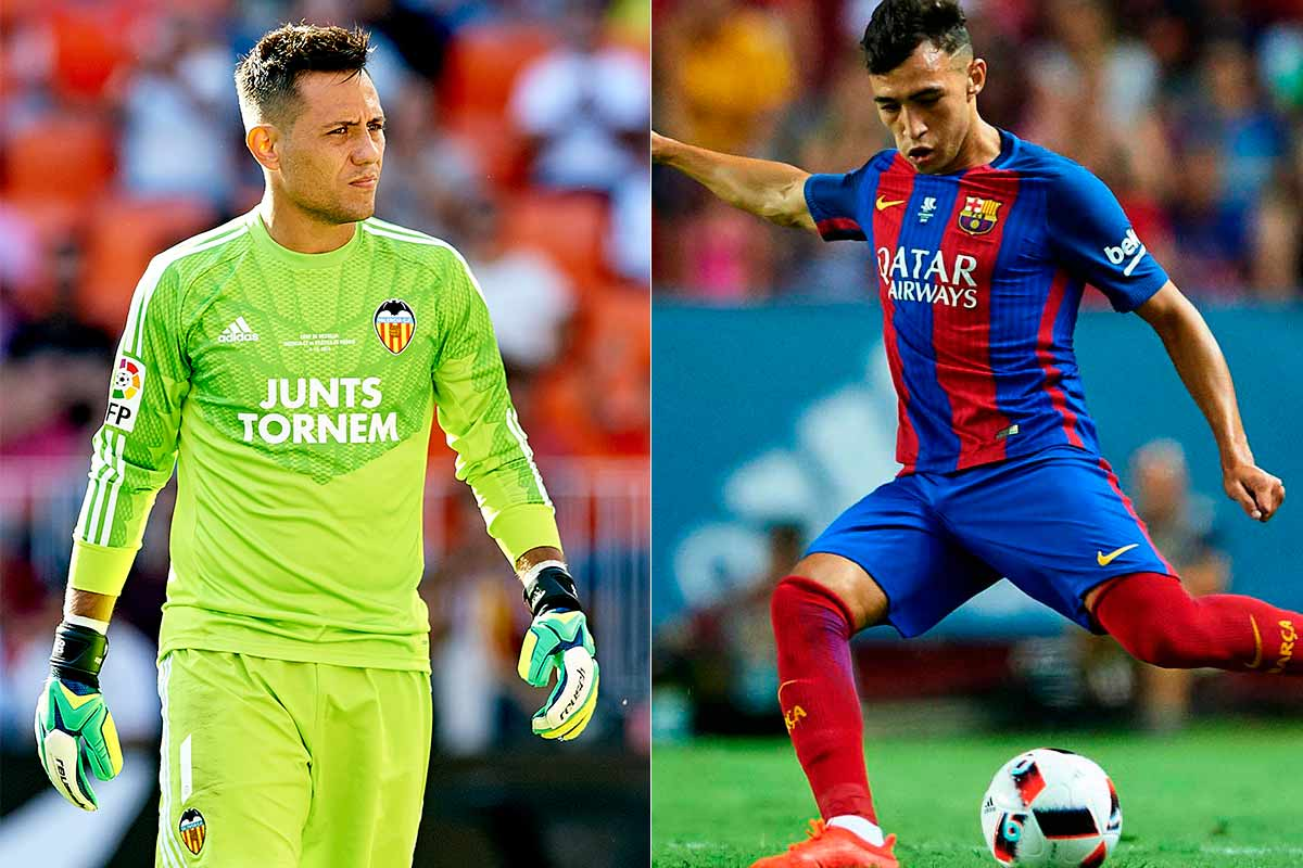 Diego Alves y Munir intercambio