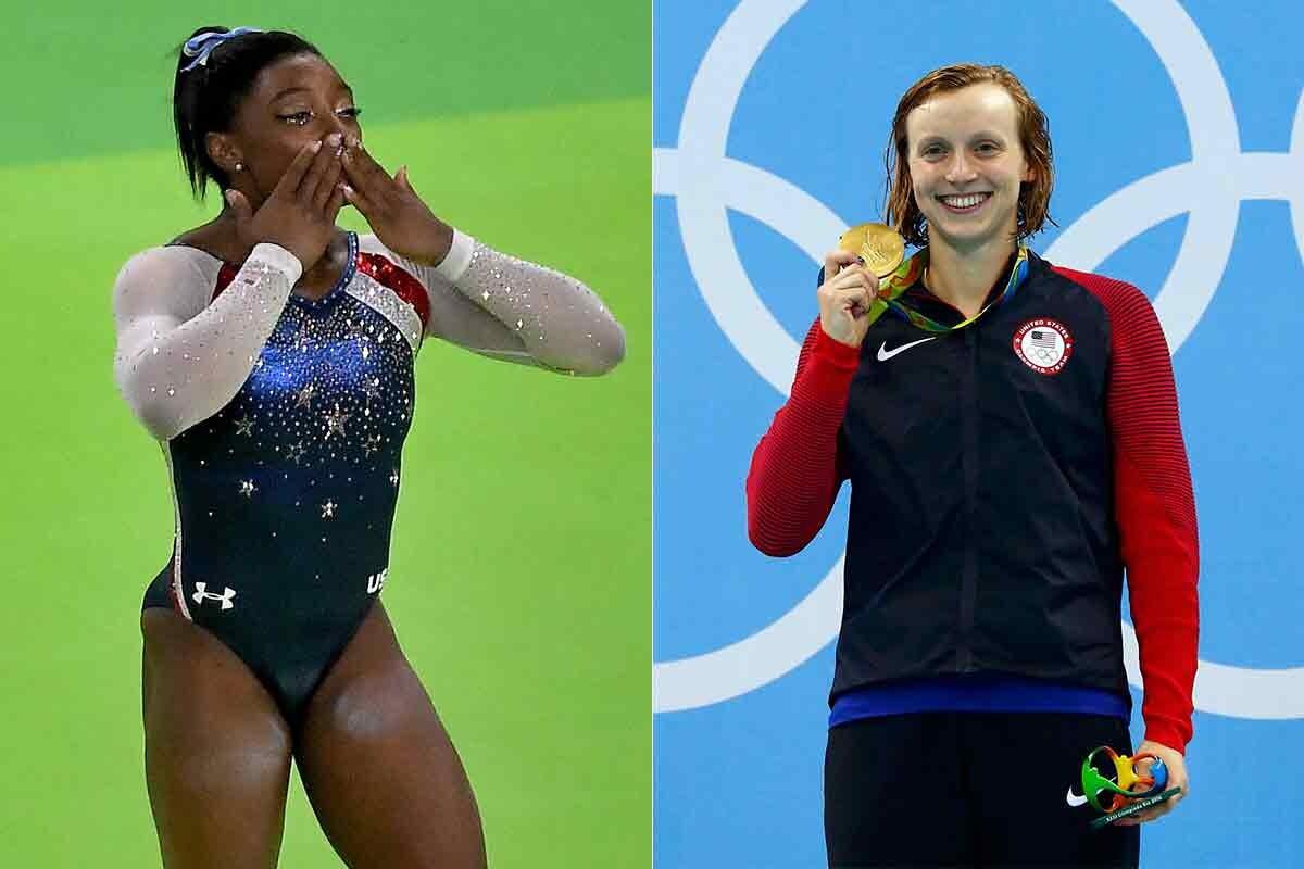 Simone Biles y Katie Ledecky medalla de oro