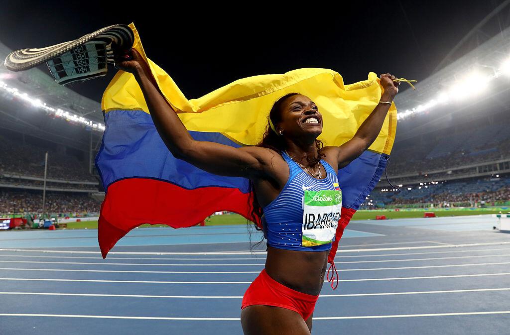 Ibargüen logró la medalla de oro en salto triple