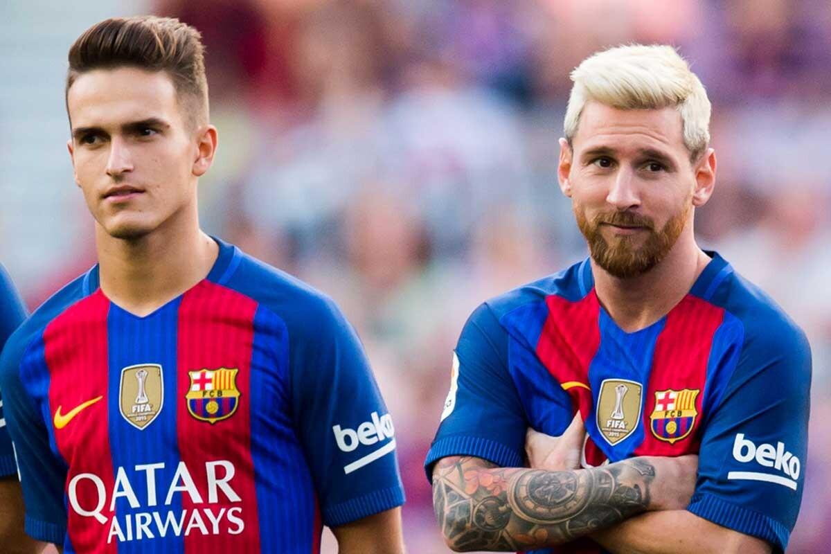 Denis Suarez y Leo-Messi