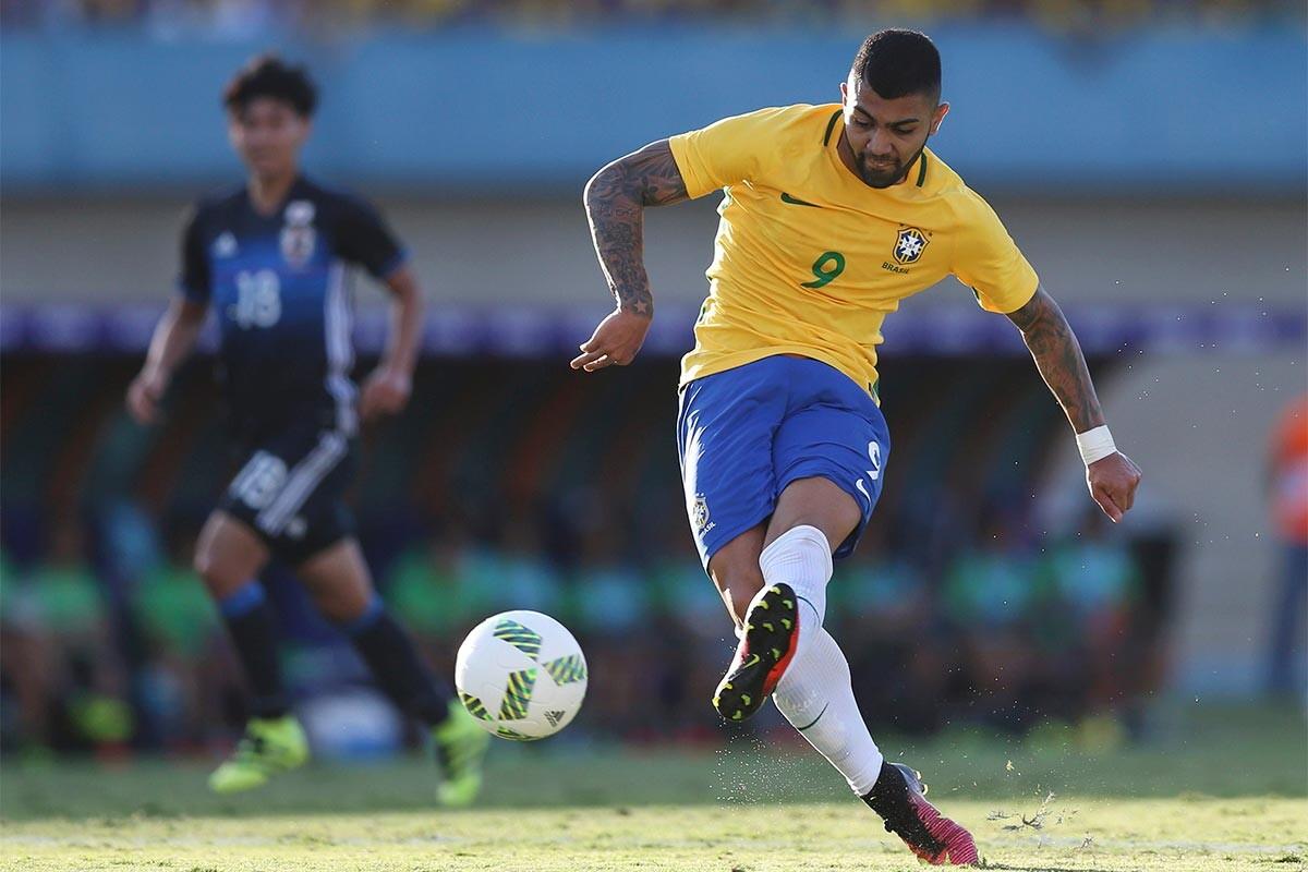 Gabriel Barbosa, durante un partido de los Juegos de Río