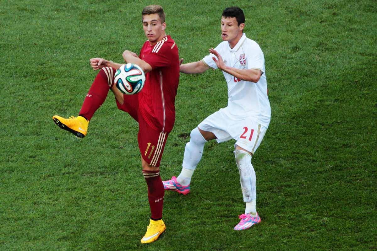 Gerard Deulofeu, con la selección de España sub21