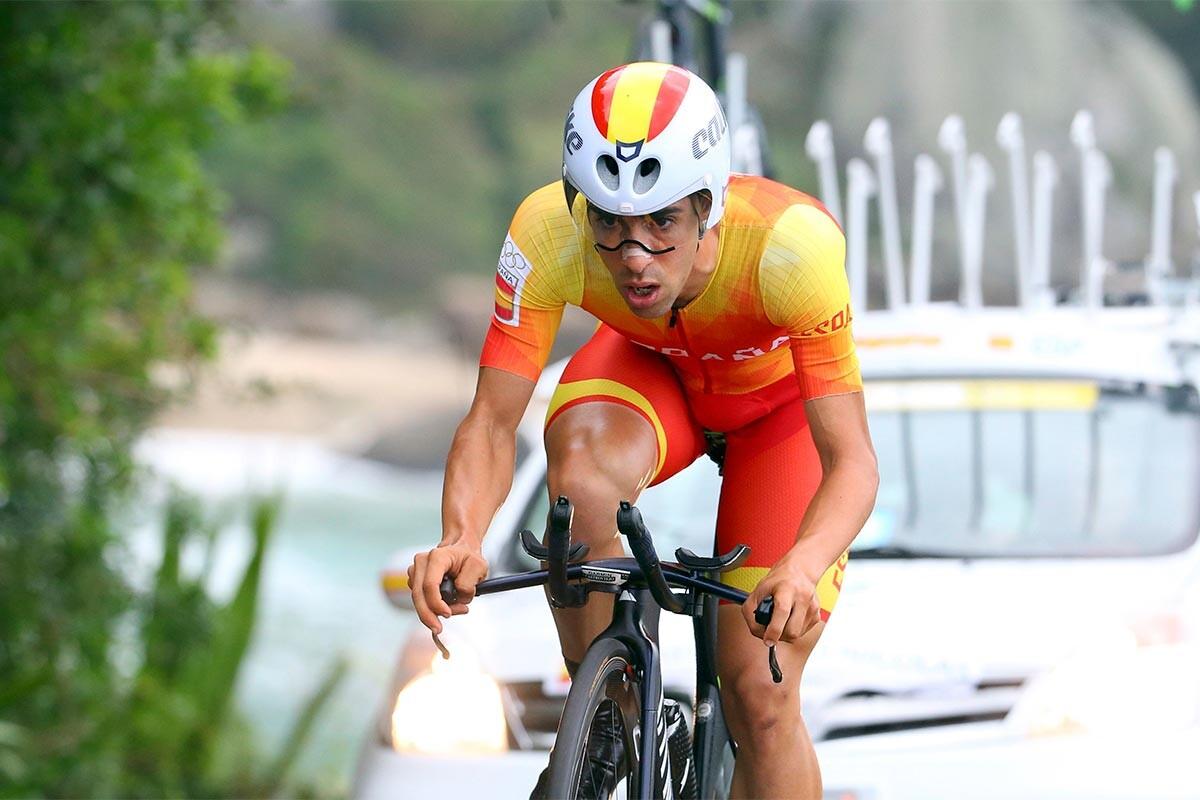 Jonathan Castroviejo, durante la crono de Río 2016
