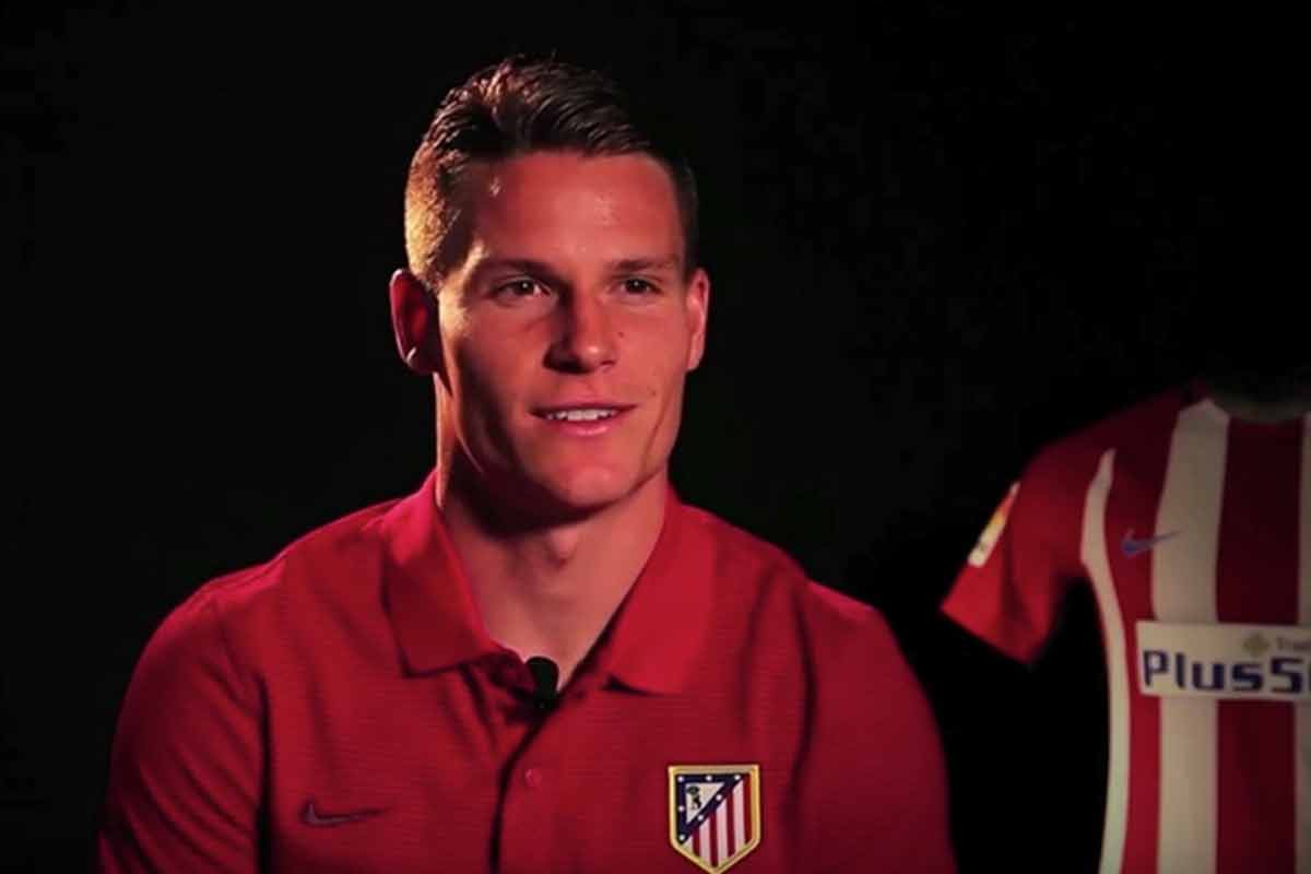 Kevin Gameiro, en una entrevista como jugador del Atlético