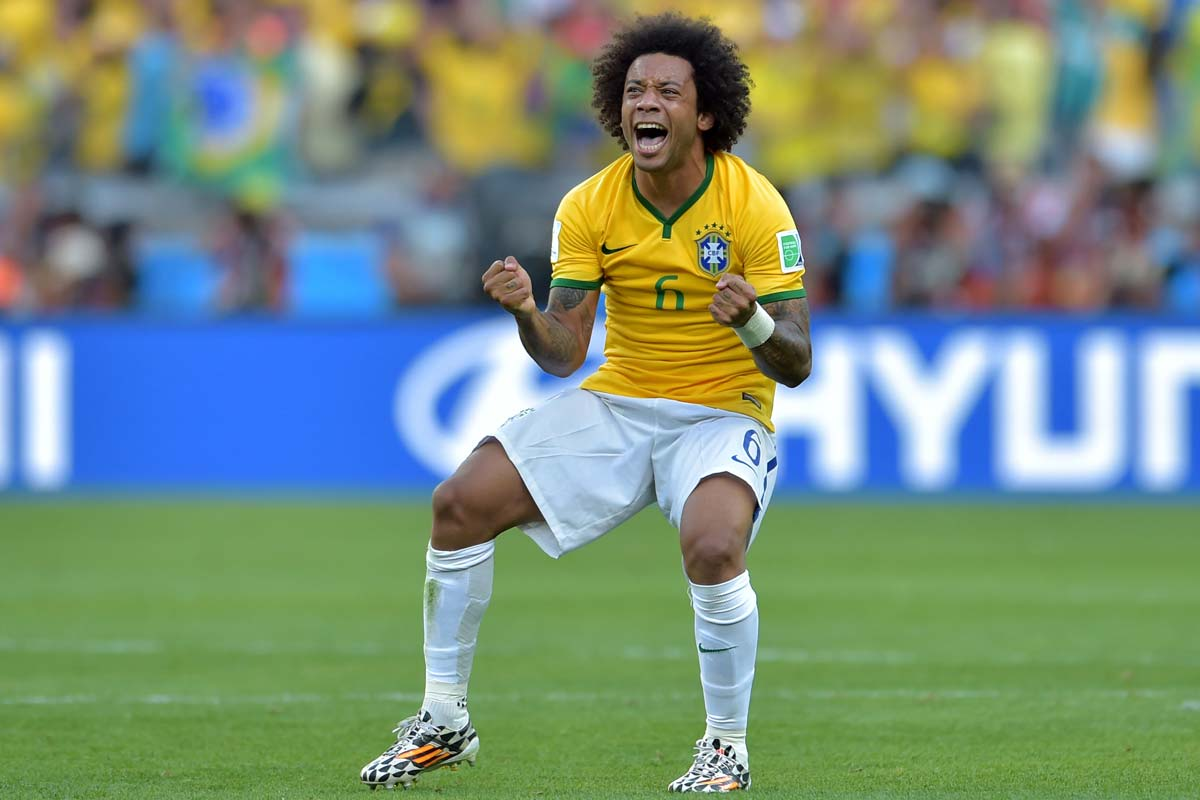 Marcelo, con la selección de Brasil