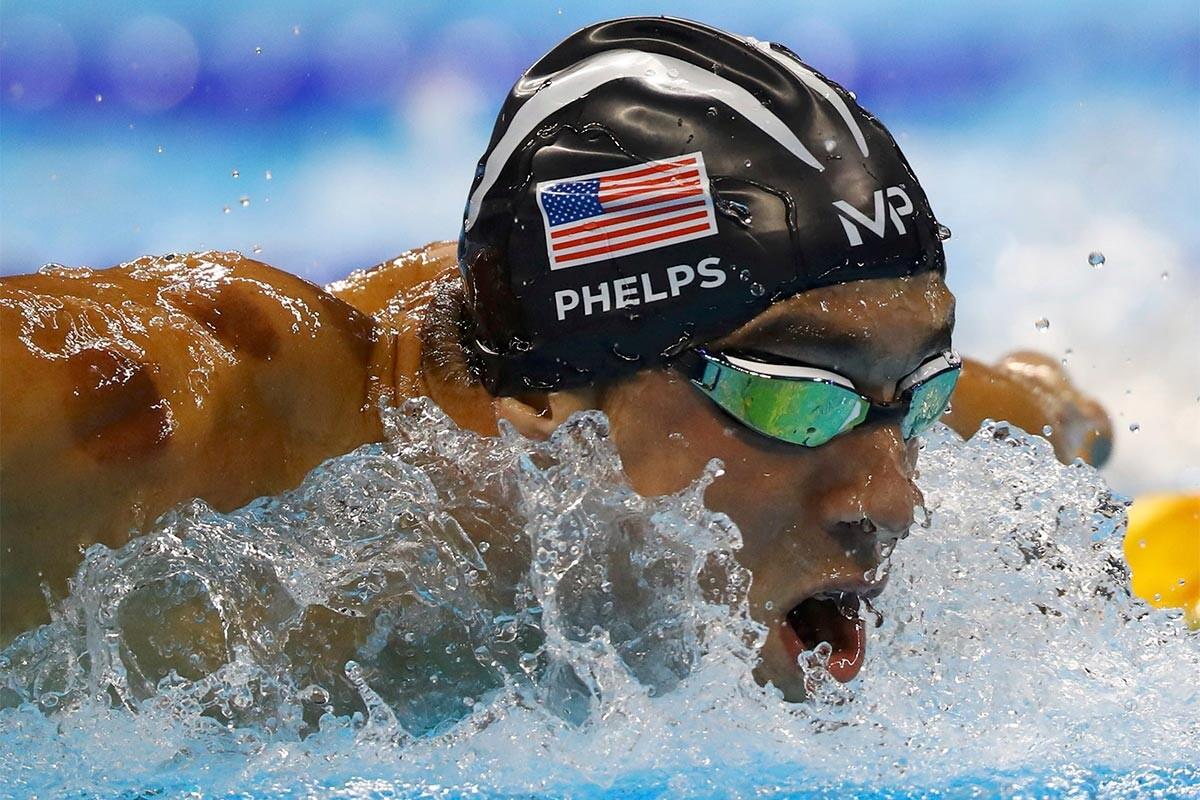 Michael Phelps, durante la final del 200 mariposa
