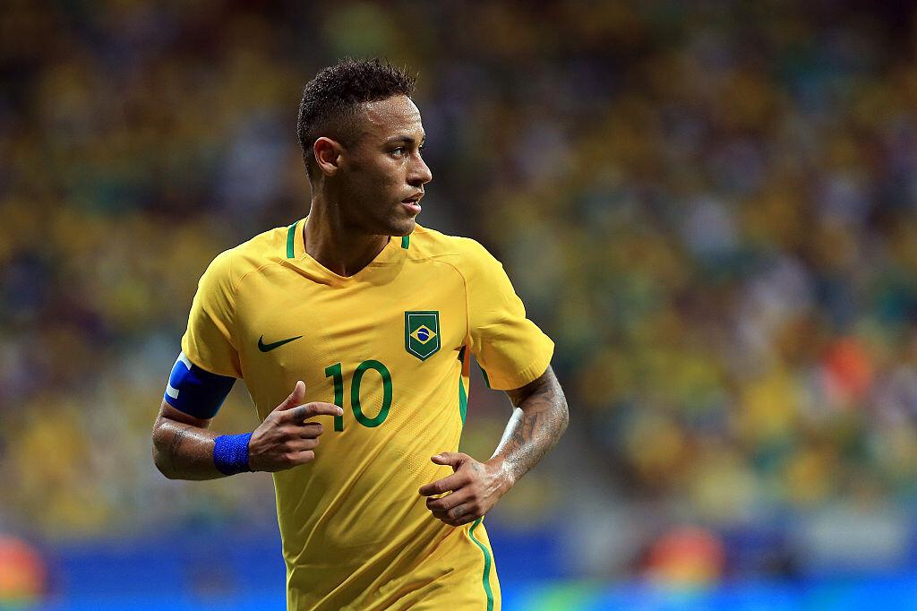 Neymar con Brasil en los Juegos Olímpicos