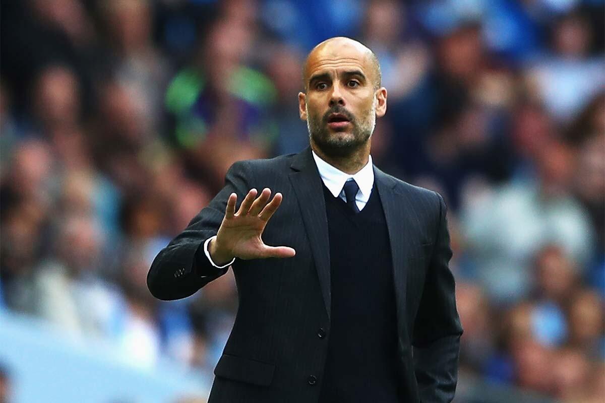 Pep Guardiola, del Manchester City