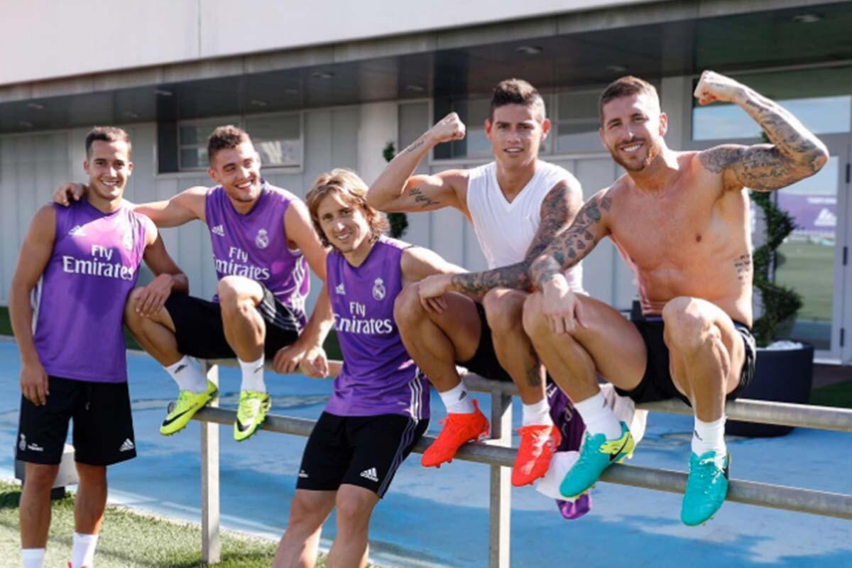 Kovacic, Modric, Lucas Vázquez, James y Ramos