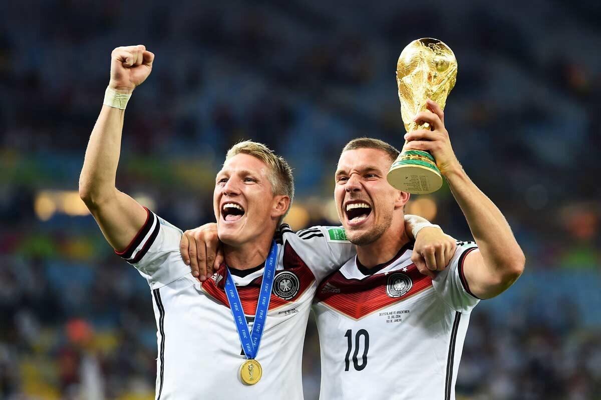 Schweinsteiger y Podolski
