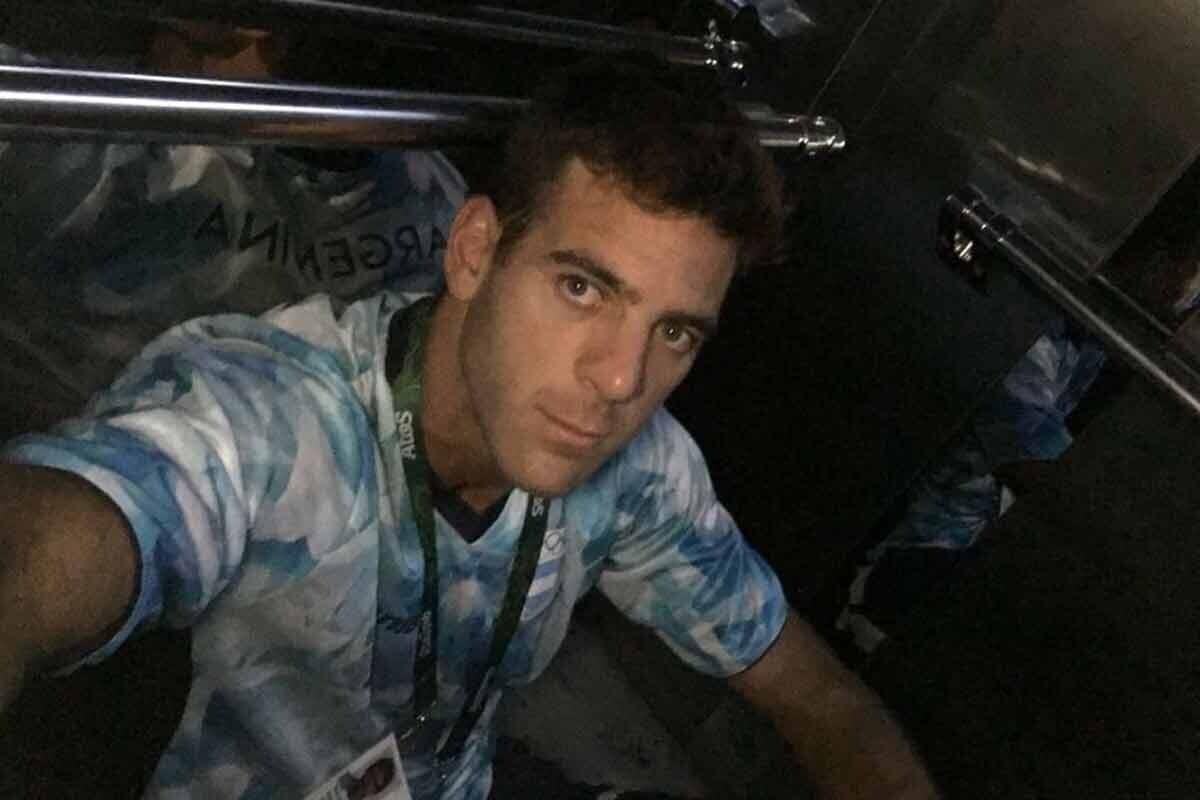 Del Potro se queda encerrado en un ascensor en Rio 2016