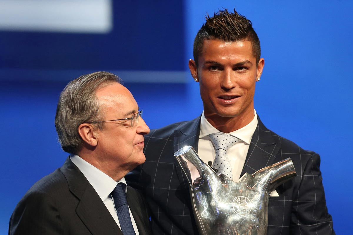 Florentino Pérez con Cristiano Ronaldo