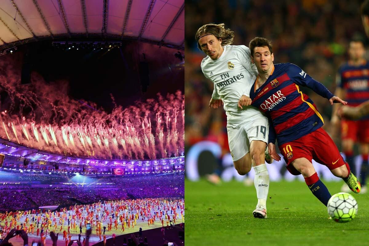 Juegos Olímpicos y Real Madrid-Barcelona