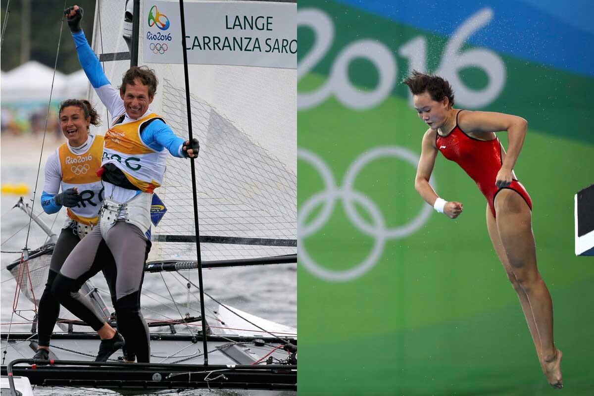 Santiago Lange y Quian Ren