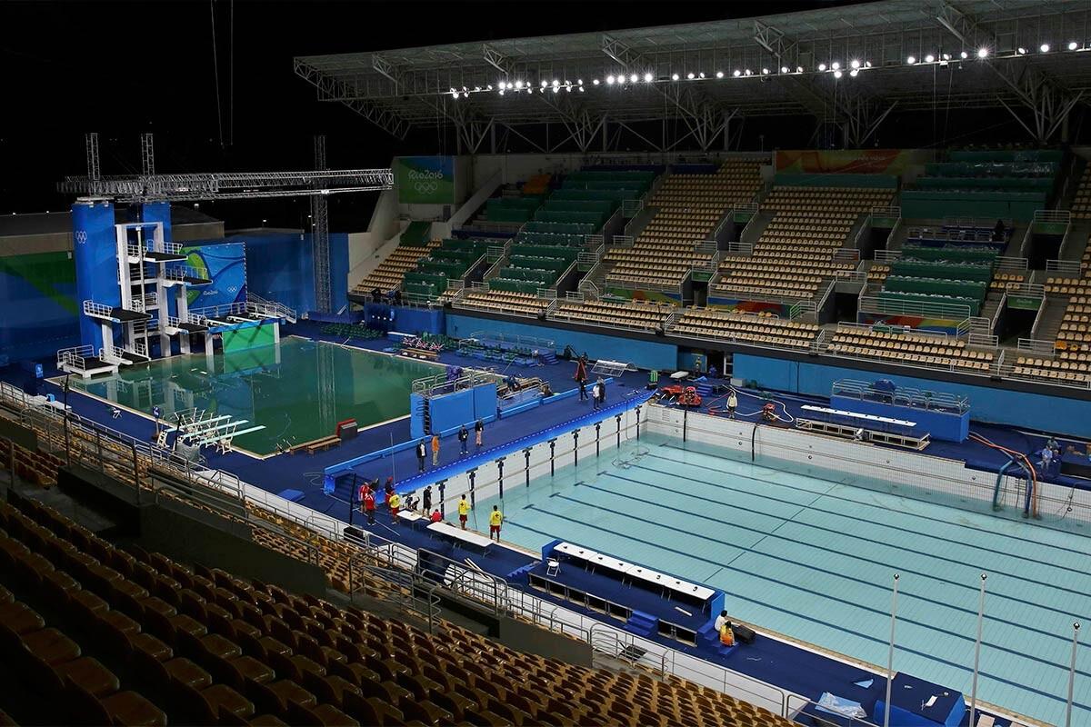 Piscinas del centro acuático de Río 2016
